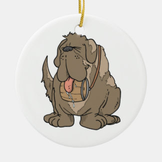 st bernard ornament