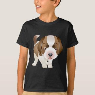 St. Bernard puppy Image painting T-shirt