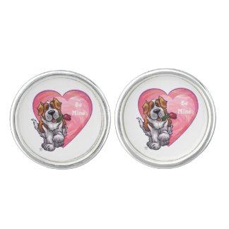 St. Bernard Valentine's Day Cufflinks