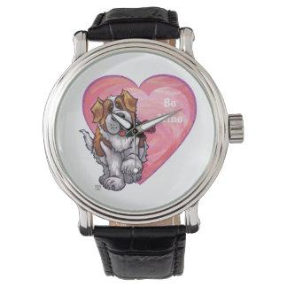 St. Bernard Valentine's Day Wristwatch