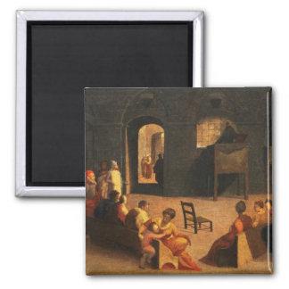 St Bernardino of Siena Preaching Refrigerator Magnets