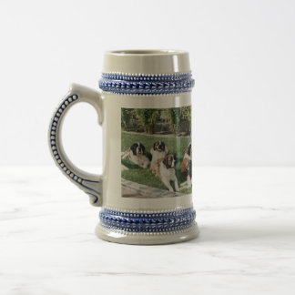 St. Bernards in the Yard Beer Stein