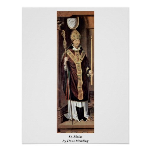 St. Blaise By Hans Memling Poster
