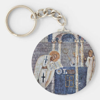 St. Blaise The Great By Meister Der Sophien-Kathed Key Ring