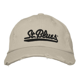 St Blues embroidered distressed cap Embroidered Hats