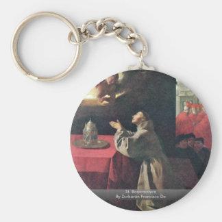 St. Bonaventure By Zurbarán Francisco De Basic Round Button Key Ring