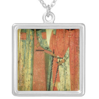 St. Boris and St. Gleb, Moscow Silver Plated Necklace