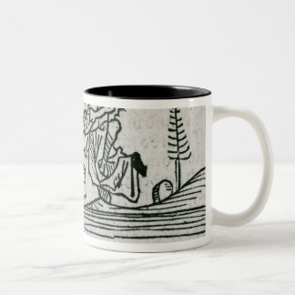 St. Brendan and the demon Two-Tone Coffee Mug