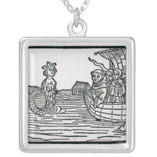 St. Brendan and the Siren Silver Plated Necklace