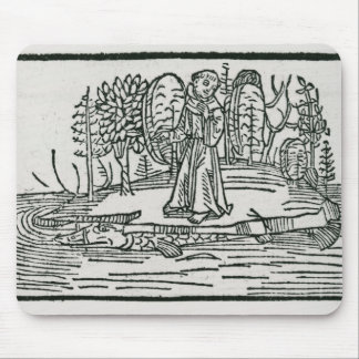 St. Brendan on the fish island Mouse Pad