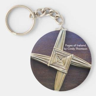 St. Brigid Cross Keychain