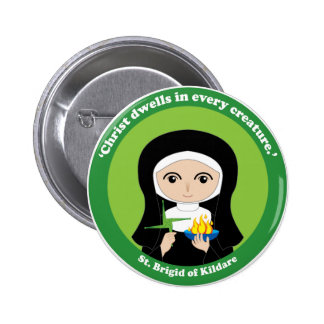 St. Brigid of Kildare 6 Cm Round Badge