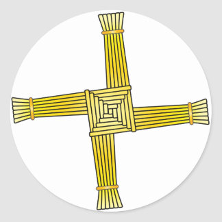 St. Brigid's Cross Classic Round Sticker