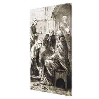 St. Brigit entertaining a Bishop, from 'The Trias Canvas Print