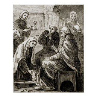 St. Brigit entertaining a Bishop, from 'The Trias Poster