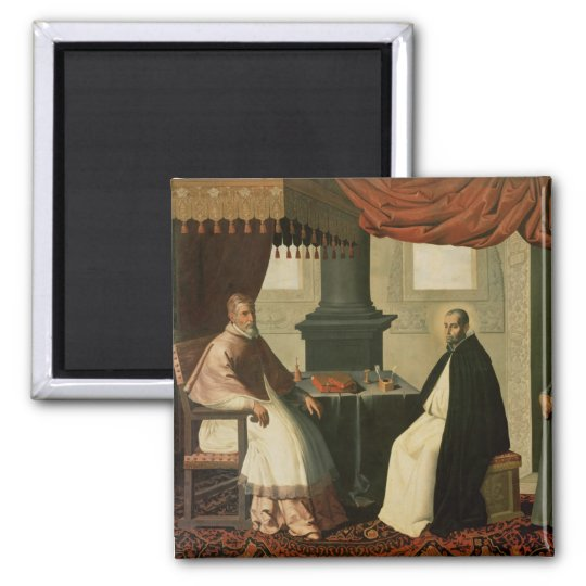 St. Bruno  and Pope Urban II  1630-35 Square Magnet