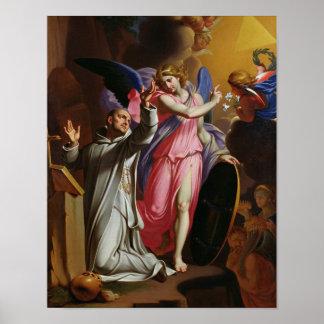 St. Bruno at Prayer, 1671 Poster