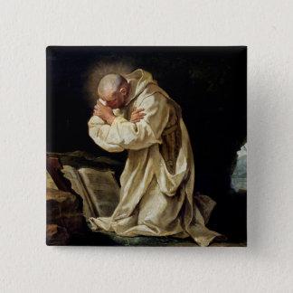 St. Bruno  Praying in the Desert, 1763 15 Cm Square Badge