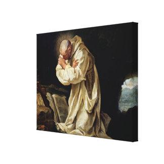 St. Bruno  Praying in the Desert, 1763 Canvas Print