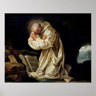 St. Bruno  Praying in the Desert, 1763 Poster