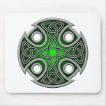 St. Brynach's Cross green and grey Mouse Pad