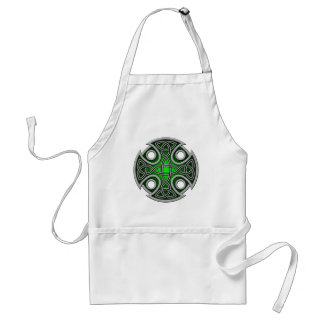 St. Brynach's Cross green and grey Standard Apron