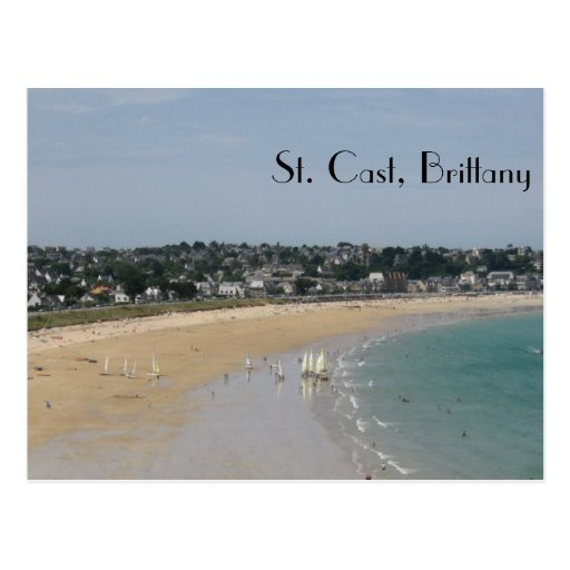 St. Cast, Brittany Post Card