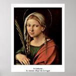 St.Catherine By Antonio Allegri Da Correggio Poster