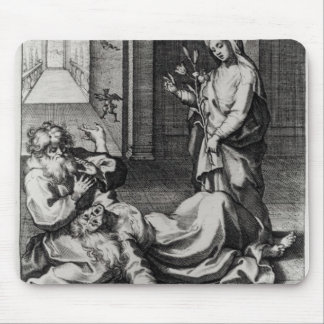 St. Catherine Exorcising a Demon from a Woman Mouse Pad