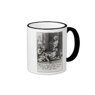 St. Catherine Exorcising a Demon from a Woman Ringer Mug