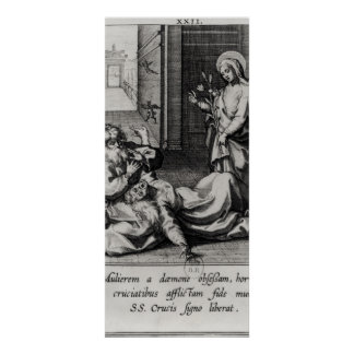 St Catherine Exorcising a Demon from a Woman Posters