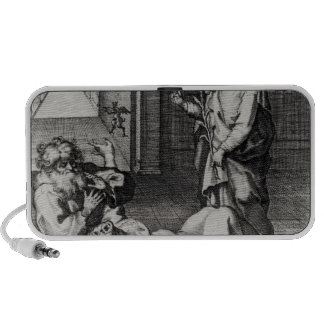 St. Catherine Exorcising a Demon from a Woman iPhone Speakers