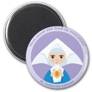 St. Catherine Laboure 6 Cm Round Magnet