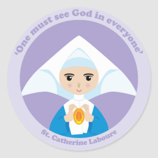 St. Catherine Laboure Classic Round Sticker