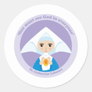 St. Catherine Laboure Round Stickers