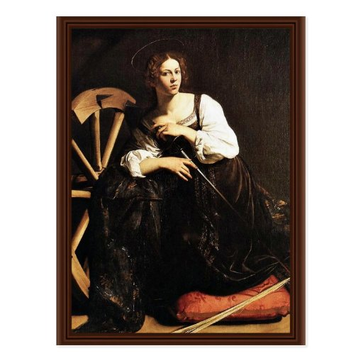 St. Catherine Of Alexandria By Michelangelo Merisi Post Card