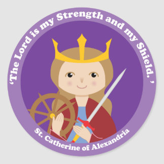St. Catherine of Alexandria Classic Round Sticker