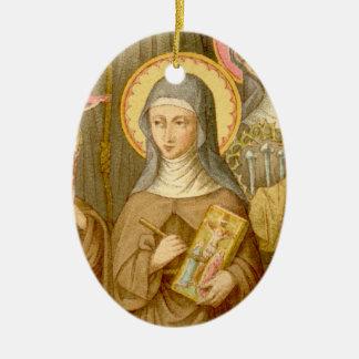 St. Catherine of Bologna (SAU 027) Blank/DIY Back Christmas Ornament
