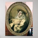 St. Catherine of Siena , c.1746 Poster
