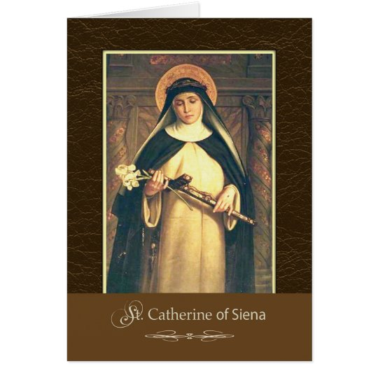St. Catherine of Siena Pray For Us Card