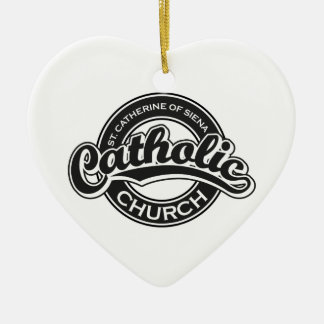 St. Catherine of Sienna Catholic Church Black Ceramic Heart Decoration