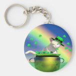 St. Catrick's Day Basic Round Button Key Ring