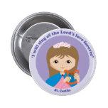 St. Cecilia 6 Cm Round Badge