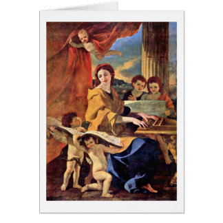 St. Cecilia By Nicolas Poussin Card