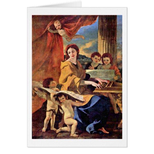 St. Cecilia By Nicolas Poussin Card