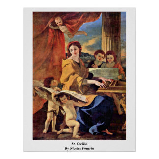St. Cecilia By Nicolas Poussin Poster