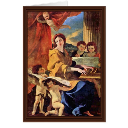 St. Cecilia By Poussin Nicolas (Best Quality) Cards
