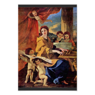 St. Cecilia By Poussin Nicolas (Best Quality) Poster
