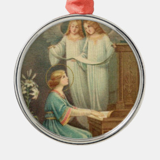 St. Cecilia Patroness of Musicians Christmas Ornament