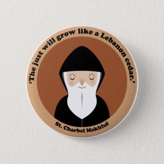St. Charbel Makhluf 6 Cm Round Badge